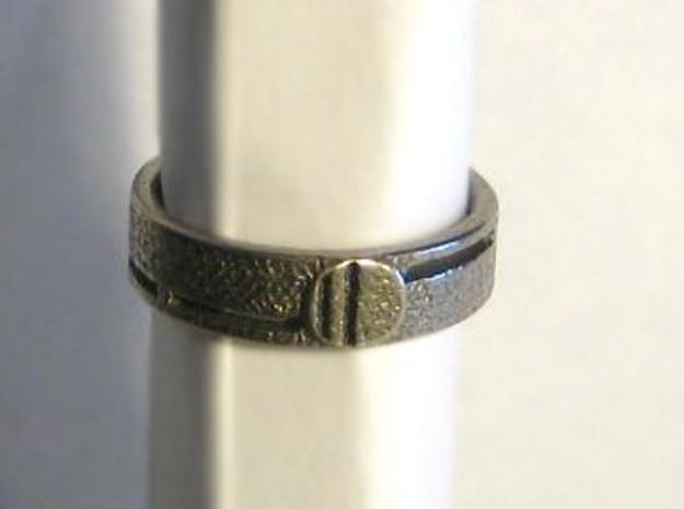 Men's Wedding Band 3d printed Ring in Stainless Steel