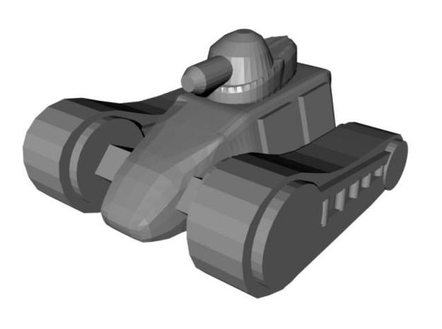 4 Light Tank x6 3d printed r1