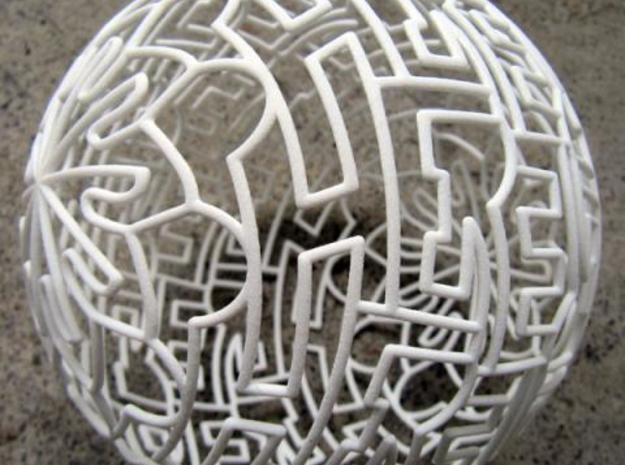 """Sphere"" Sphere 3d printed RL photo, close up."