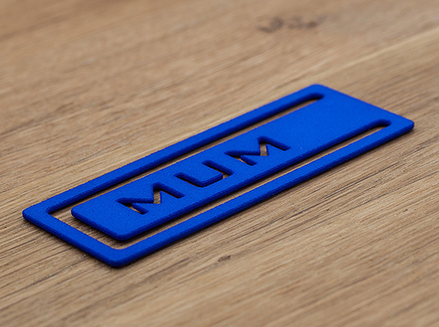 Bookmark Mum 3d printed