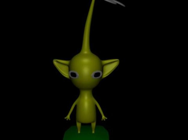 Pikmin- Yellow 3d printed Yellow Pikmin in Blender