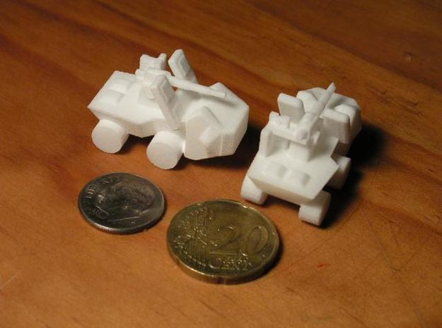 8 Self Propelled Artillery x4 3d printed Photo
