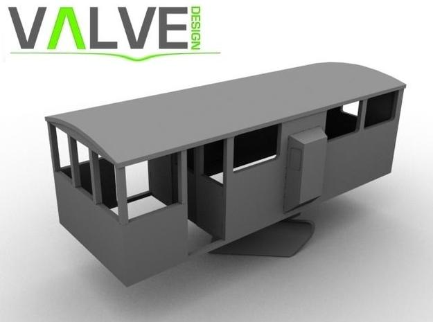 CIE Ballast Plow Brake Van OO Scale 3d printed Computer Render of Model