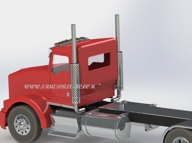 """KW """"Fatboy"""" Style Extended Daycab 3d printed"""