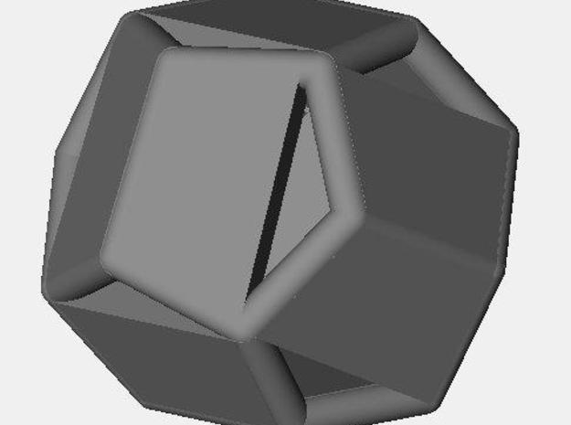 d12 pyrite1 blank 3d printed Description