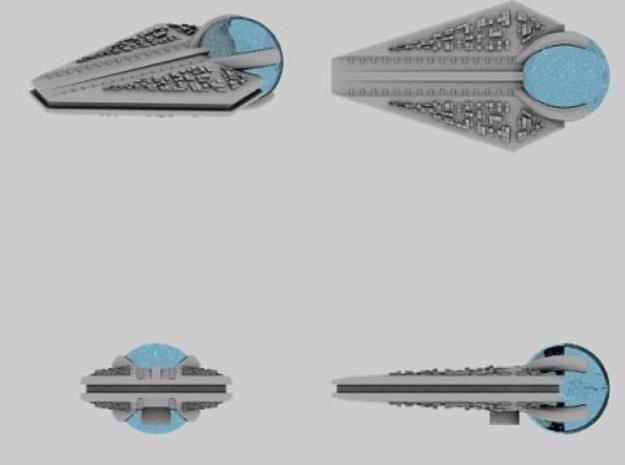 M-Ships Faction 1 Destroyer 3d printed