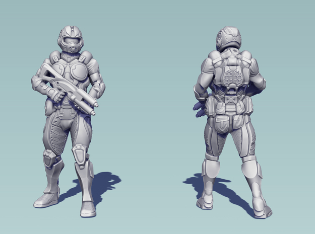 Future Soldier - 80mm Tall 3d printed