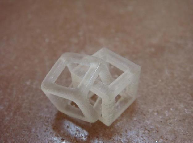 1cm cubes interlaced 3d printed Description