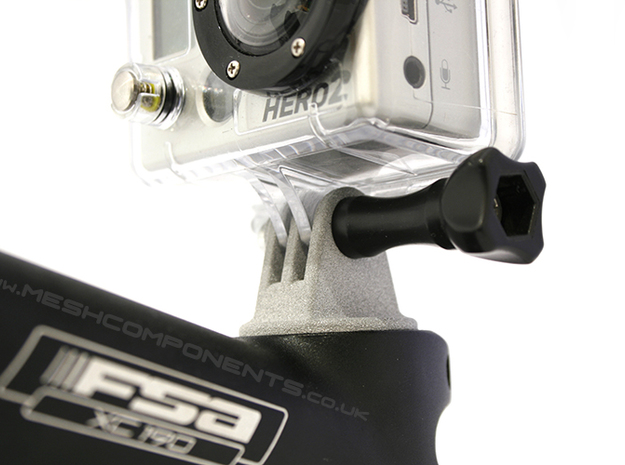Bicycle Go-Pro Stem Mount 3d printed Close Up Bottom