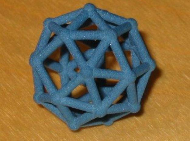 Snub cube (chiral) 3d printed Snub cube (chiral) in blue jeans