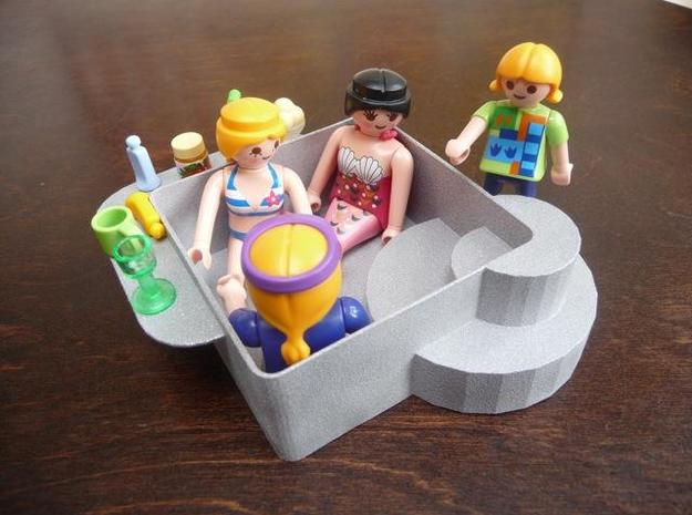 Playmobil jacuzzi 3d printed The jacuzzi in action :)