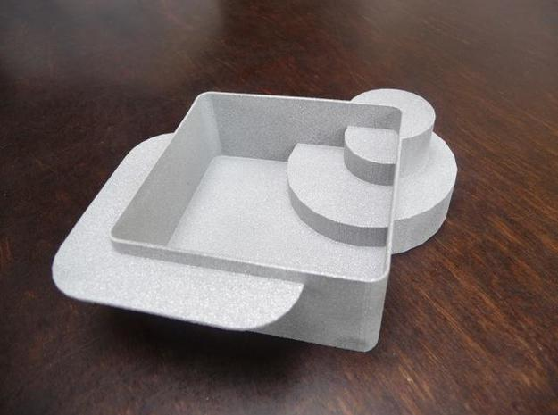 Playmobil jacuzzi 3d printed The raw print in Alumide.