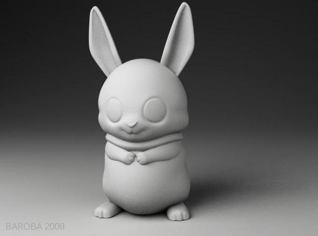 Bowie the bunny (2mm thick) 3d printed bowie