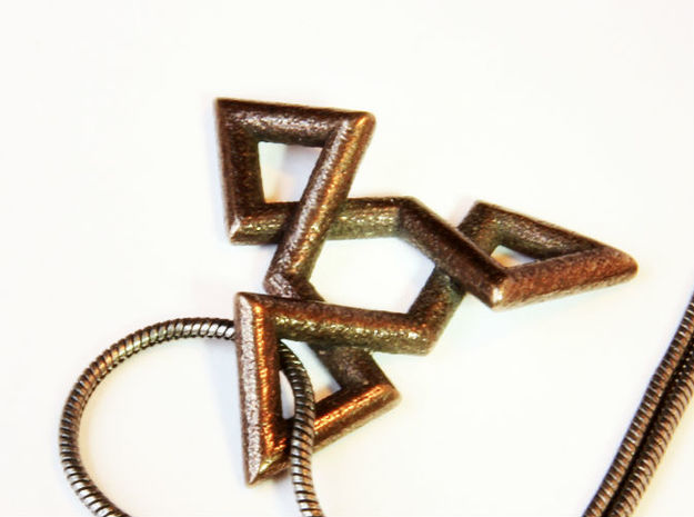 TRIAD 3d printed with a simple chain