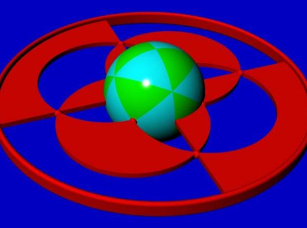 Tetrahedral group T 3d printed Construction of the stereographic projection, showing the sphere subdivided into spherical triangles.