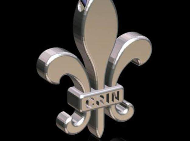 Fleur-de-Lis Pendant 3d printed Description