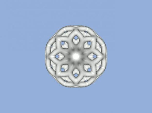 Heavier Netted Ornament 3d printed View from below