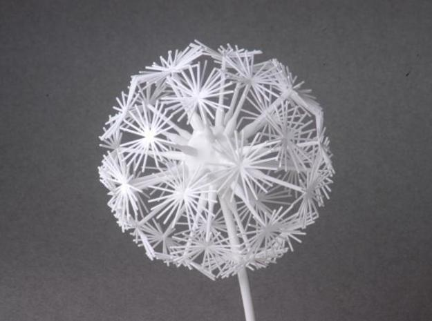 Dandelion abstract art piece 3d printed Gray Background