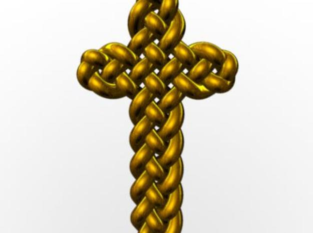 Celtic Knots 06 3d printed Rendered in gold with Maya.