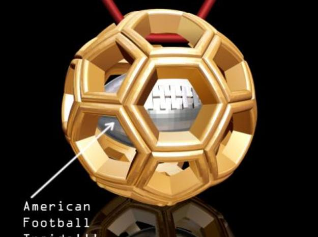 Soccer Ball with American Football Inside #2 3d printed Description