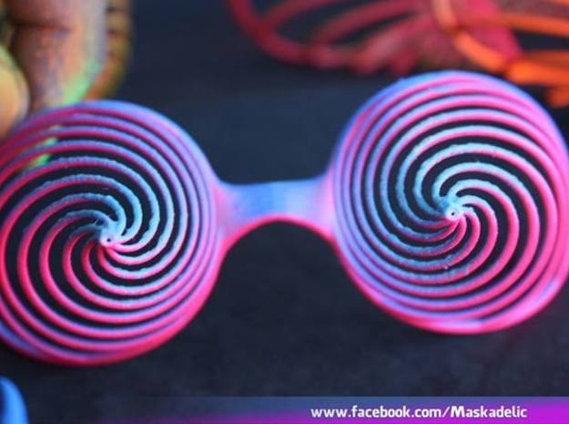 Party Mask 'Cortex Vortex' 3d printed