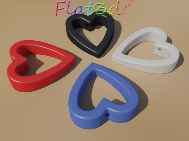Cord Pull Heart 3d printed Pull cord - heart shaped