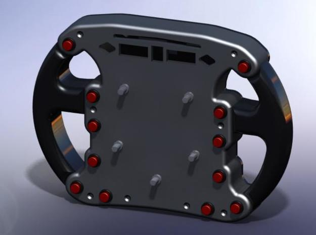 Steering Wheel Front 3d printed Front and Rear attached (FRONT VIEW)