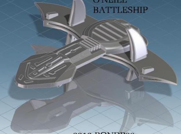 O'Neil battleship 3d printed render view of the O'Neil battleship