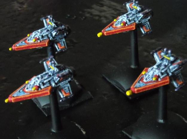 VA104A Turbulent Sky Destroyer (x4) 3d printed Painted model