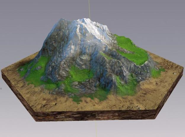 Catan mountain hexagon 3d printed Description