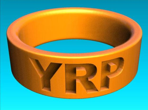 Custom Ring Engraved 3d printed Rendered view 2