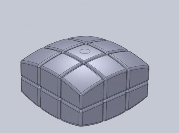 mini 3x3x2 Pillowed (30mm x 20mm) 3d printed Description