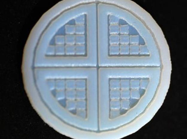 Floor Tile Manhole w/Cover 3d printed Detail of the manhole cover