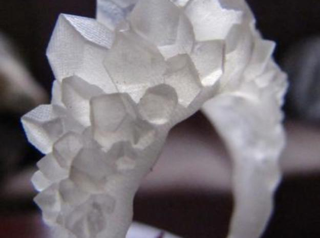 Crystal Ring size 12 3d printed Frosted Ultra Detail