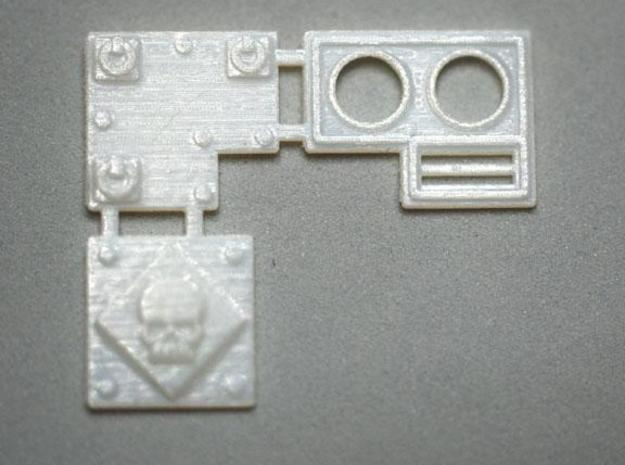 Extra Armor Plates for Walkers 3d printed Three Piece Dreadnought Arm Armor.