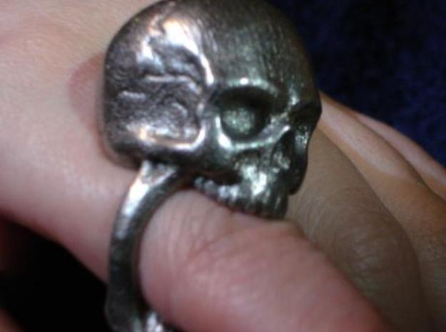 Skull Ring size 11 3d printed Finger