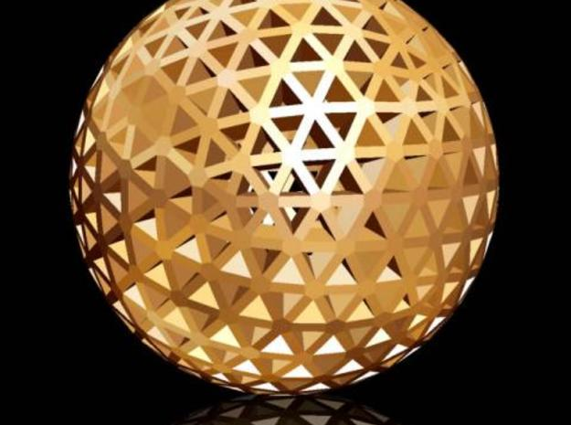 Geodesic Golf Ball (B) 3d printed Description