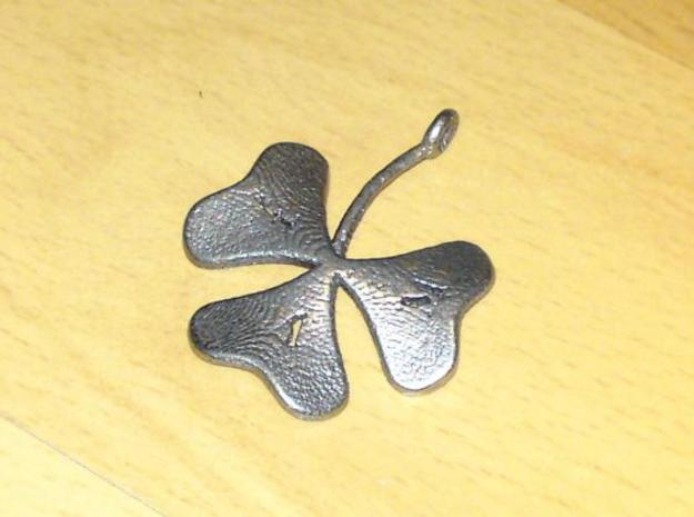 Clover 3d printed In stainless steel (customized with letters)