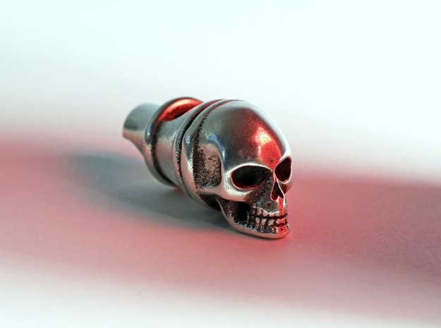 Silver Whistle of the Dead 3d printed