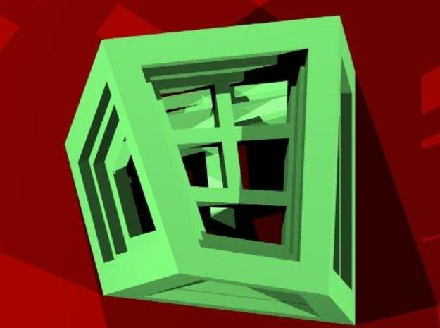 """Windows die 3d printed Seen from above - """"5"""" is up"""