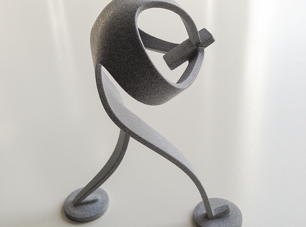 Mobile Madman 3d printed 3D print in Polished Alumide