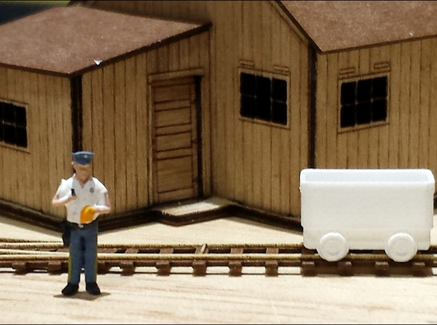 Ore Cart - Set of 24 - NN3scale 3d printed Photo by Karin Snyder of StoneBridgeModels