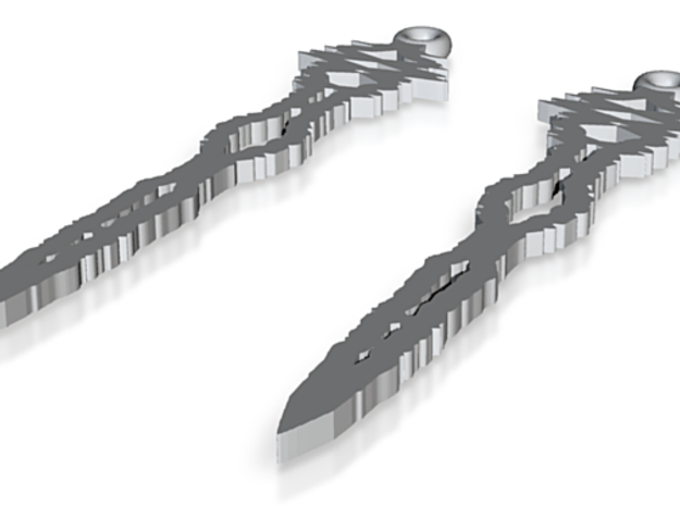 """""""I Love You"""" Sound Wave Earrings 3d printed"""