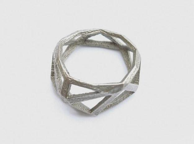 Comion ring large 3d printed stainless steel ring