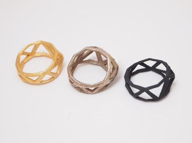 Comion ring large 3d printed 3 materials