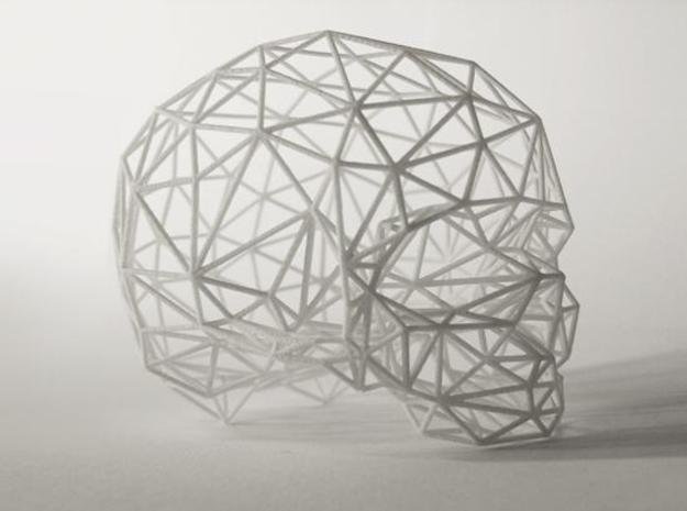 Skull Wireframe 3d printed Description