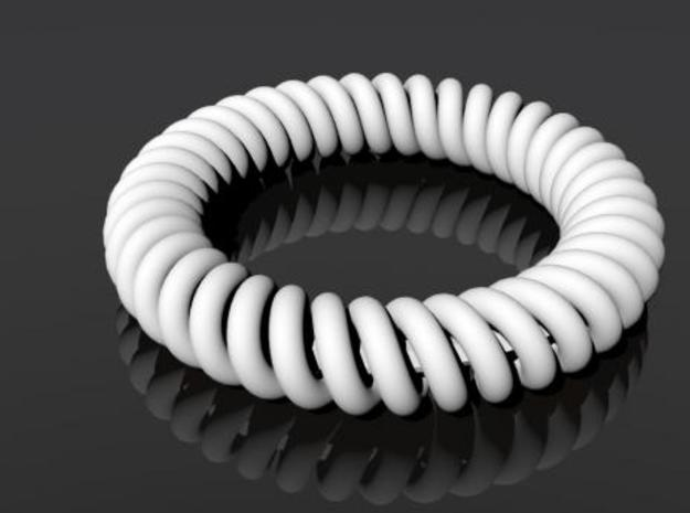 Twisted Bracelet 3d printed Rendering