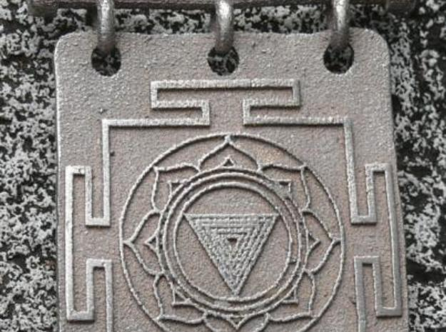 Kali Yantra Pendant 3d printed Stainless Steel
