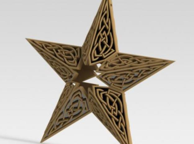 Celtic Star Christmas Ornament 3d printed Description