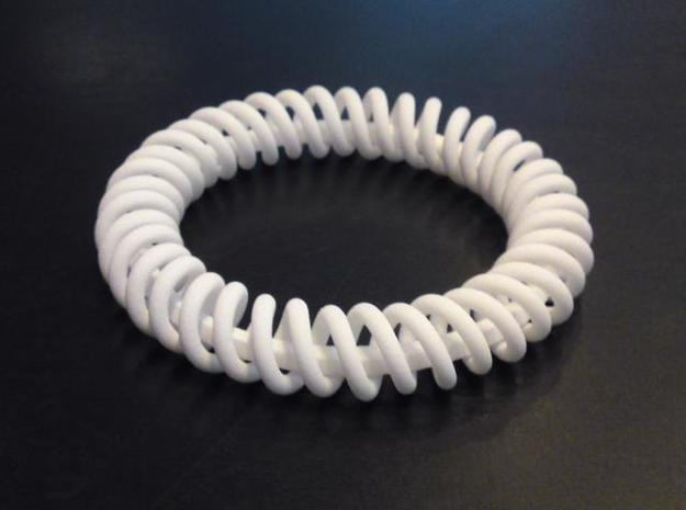 Twisted Bracelet 2 3d printed Real world edition in white strong & flexible